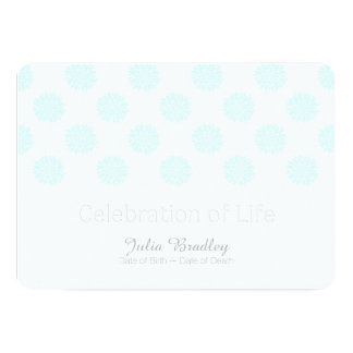 Blue Peonies Celebration of Life Memorial Service 13 Cm X 18 Cm Invitation Card
