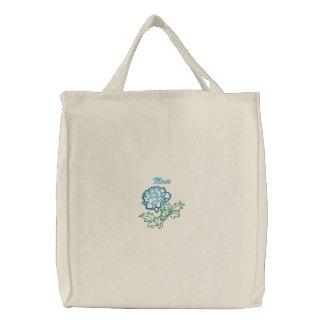Blue Peony Mom Tote Bags