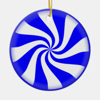 Blue Peppermint Candy Ornament