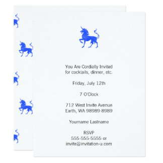 Blue (Periwinkle) Unicorn Card