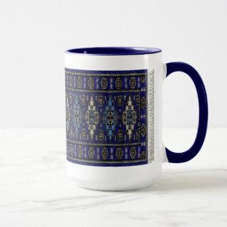 Blue persian mug