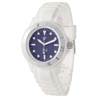 blue personalized modern sports watch