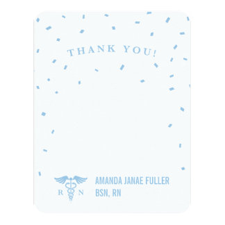 Blue Personalized Nurse Thank You Cards 11 Cm X 14 Cm Invitation Card