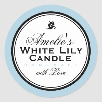 BLUE | PERSONALIZED SOAP & CANDLE STICKER