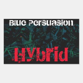 Blue Persuasion Hybrid Rectangular Sticker