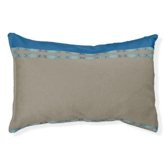 blue pet bed
