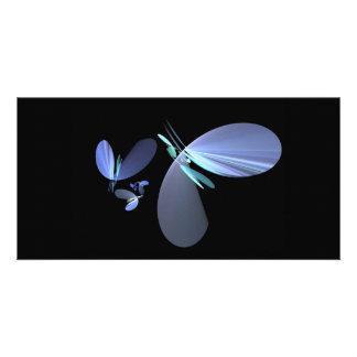 blue-petal-fractal photo cards