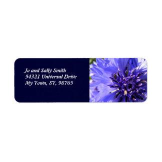 Blue Petals Return Address Label