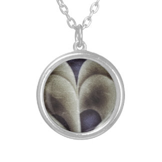 Blue petals silver plated necklace