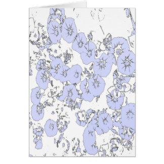 Blue Petunias Card