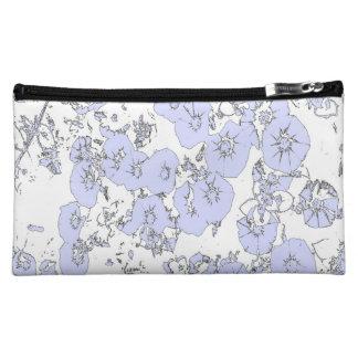 Blue Petunias Cosmetic Bag