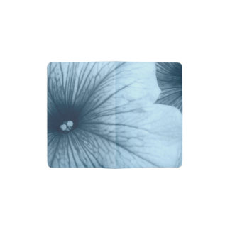 Blue Petunias Pocket Moleskine Notebook
