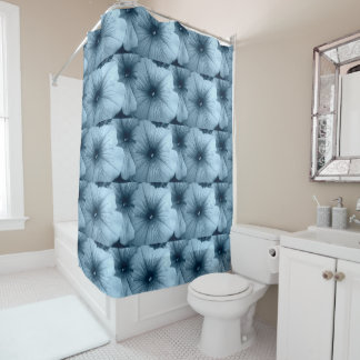Blue Petunias Shower Curtain