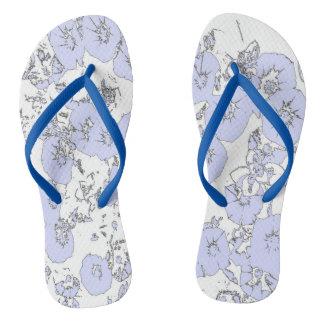 Blue Petunias Thongs