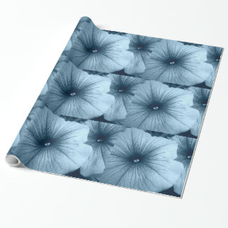 Blue Petunias Wrapping Paper