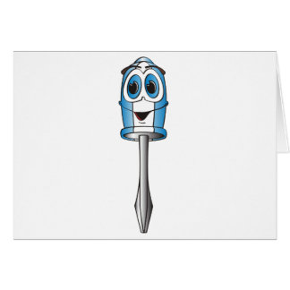 Blue Phillips Screwdriver Greeting Cards