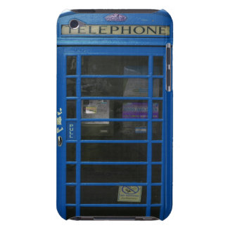 blue phone booth barely there iPod cases