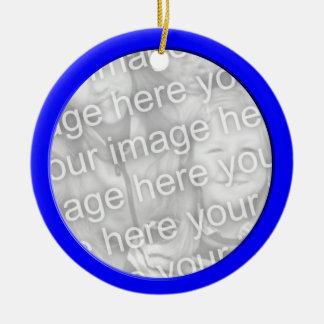 blue photo frame round ceramic decoration