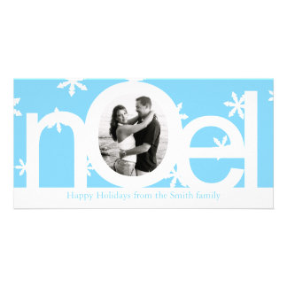 Blue Personalized Photo Card