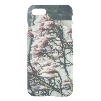 Blue Photograph, Magnolia Tree In Spring iPhone 7 Case