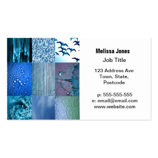 Blue Photography Collage Pack Of Standard Business Cards