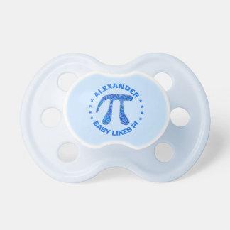 Blue Pi Symbol Math Geek Science Nerd Fun Colorful Baby Pacifier
