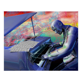 Blue Piano Poster