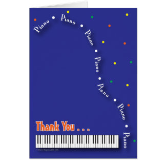 Blue Piano Thank You Card