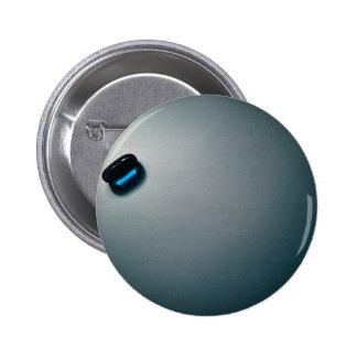Blue pill pinback button