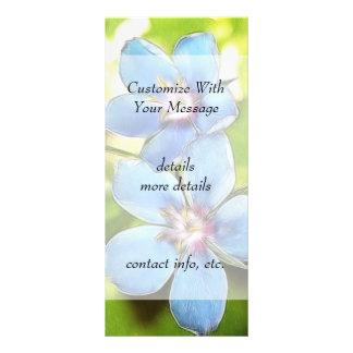 Blue Pimpernel (Anagallis monelli) Flowers Customised Rack Card