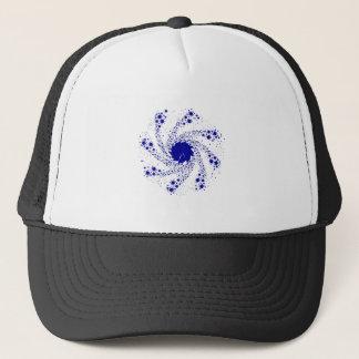 Blue Pin Wheel Trucker Hat