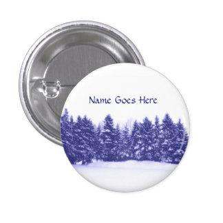 Blue Pine Line 3 Cm Round Badge