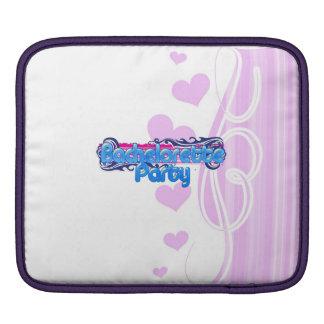 blue pink bachelorette wedding bridal shower party iPad sleeve