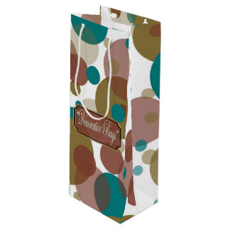 Blue Pink Bubbles Wine Gift Bag