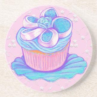 Blue & Pink Cupcake Coaster