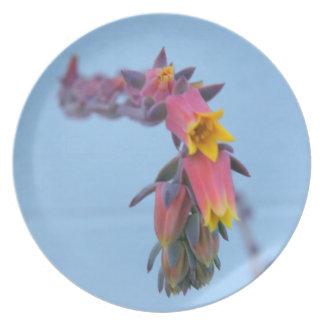 Blue & Pink Flower plate