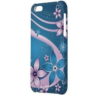 blue pink flowers - vector art case for iPhone 5C