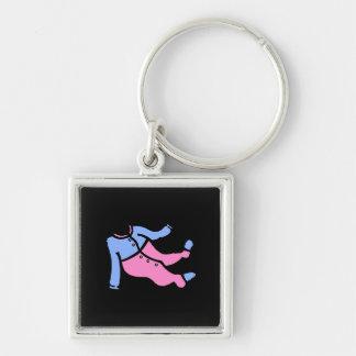blue & pink footy PJ's Keychain