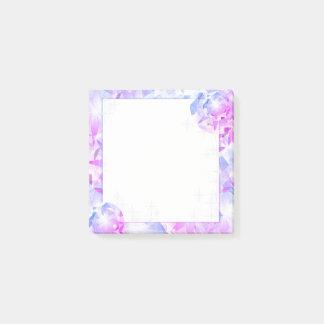 Blue Pink Gemstone Compass Rhinestone Look Post-it Notes