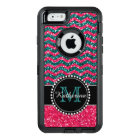 Blue & Pink Glitter Chevron Personalised Defender OtterBox Defender iPhone Case