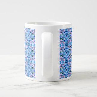 Blue Pink Large Coffee Mug