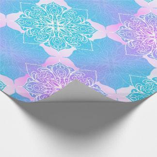 Blue & Pink Mandala Pattern Wrapping Paper