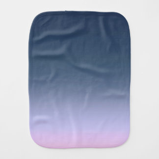 Blue-pink Ombre . Baby Burp Cloth