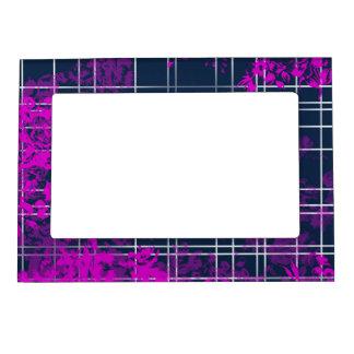 Blue Pink Pattern Magnetic Frame