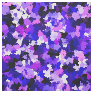 Blue Pink Purple Paint Camouflage Abstract Pattern Fabric