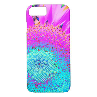 Blue Pink purple Sunflower iPhone 8/7 Case