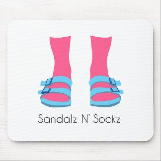 Blue/Pink Sandalz N' Sockz Mouse Pad