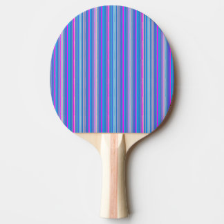 blue pink striped ping pong paddle