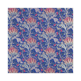 blue pink thistle canvas print