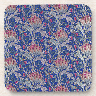 blue pink thistle coaster